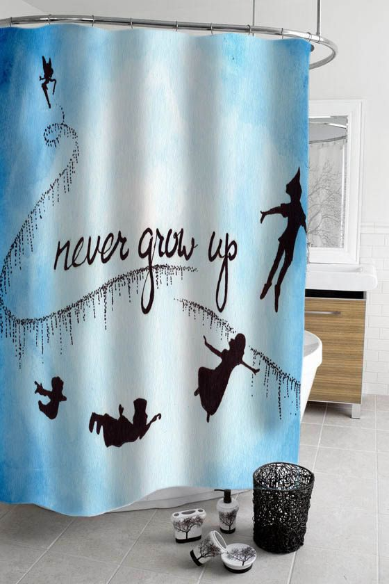 Peter Pan Never Grow Up Shower Curtain By Stacygood4 On Etsy