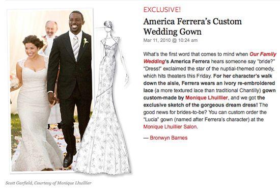 America Ferrera Wedding Dress Gallery Wedding Dresses Family Wedding