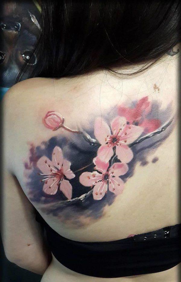 8e788758ca365 The 50 Best Cherry Blossom Tattoos Ever Inked | Tattoos | Blossom tattoo, Back  tattoo, Tattoos