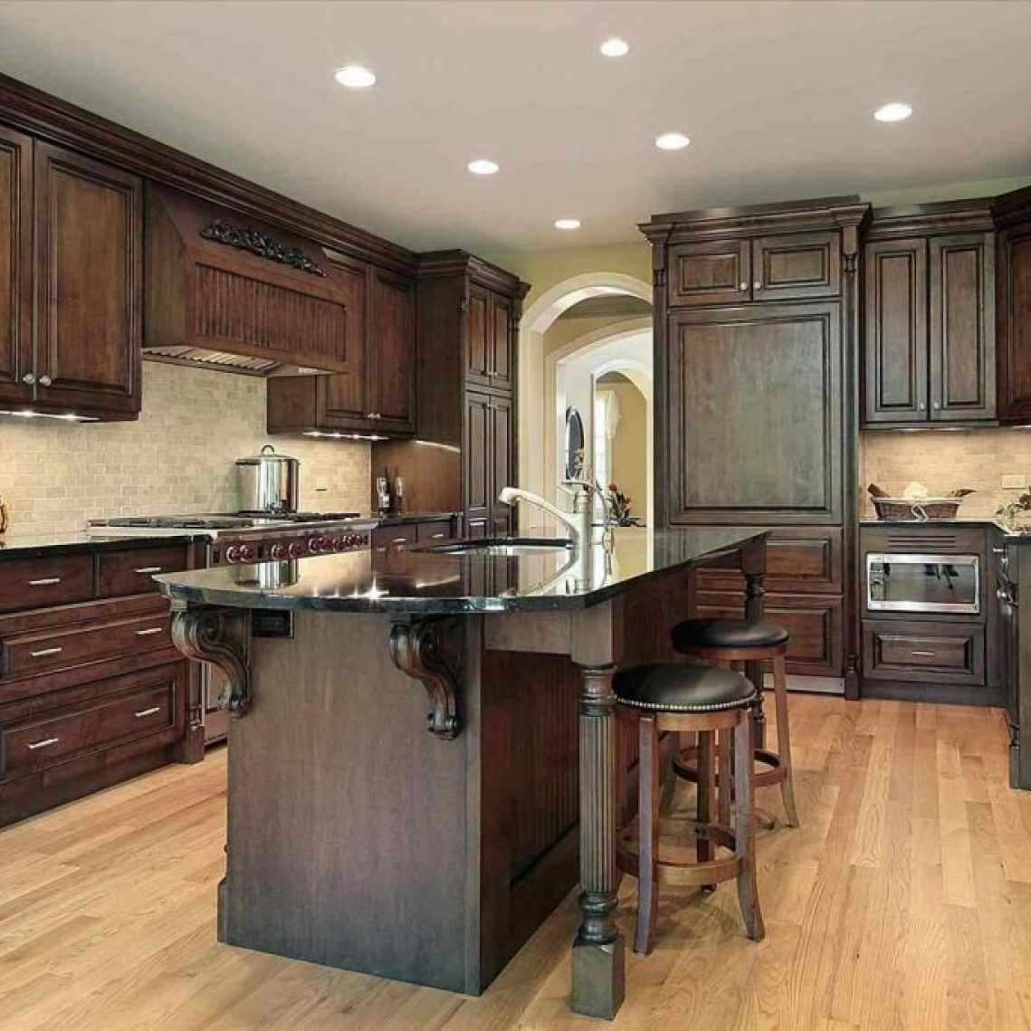 9+ Buying Kitchen Backsplash with Dark Cabinets Light Granite ...