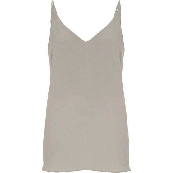 Womens Brown split strap cami top River Island Discount Best Seller b32PH28iOt