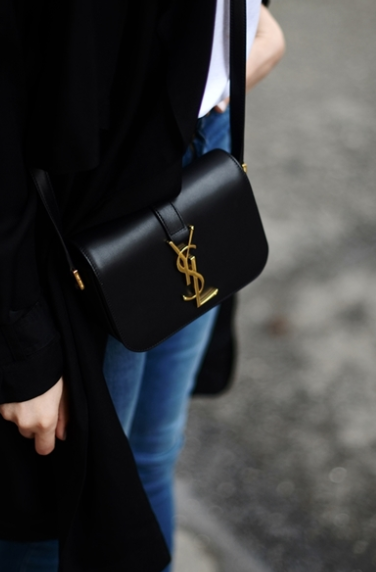 Saint Laurent Bag    yves saint laurent - ysl - bag - black - accessory -  purse - woman -girl - fashion - jeans - love - winter - gold 4f4fe5b6d4