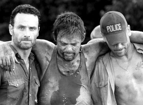 Rick, Daryl, Shane