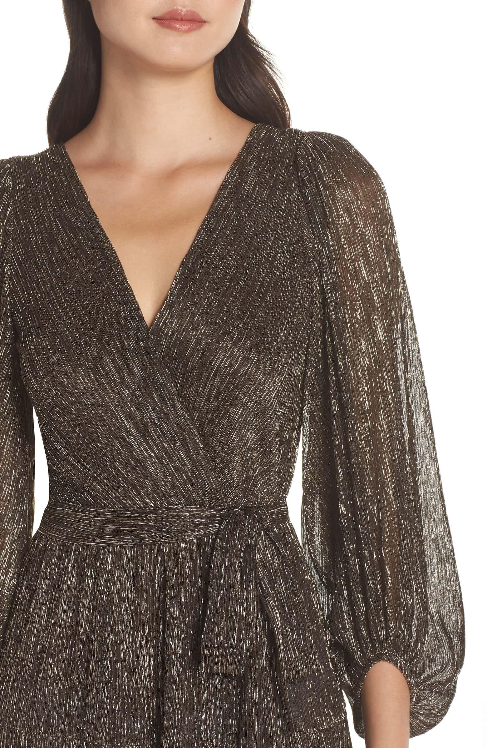 Eliza J Backless Metallic Maxi Wrap Dress Nordstrom Soiree Dress Fashion Dress Party Fashion Dresses [ 2392 x 1560 Pixel ]