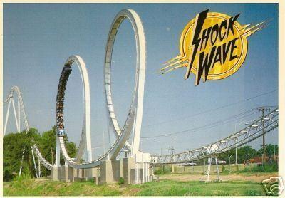 Shockwave Six Flags Over Texas Postcard Six Flags Over Texas Six Flags Favorite Places