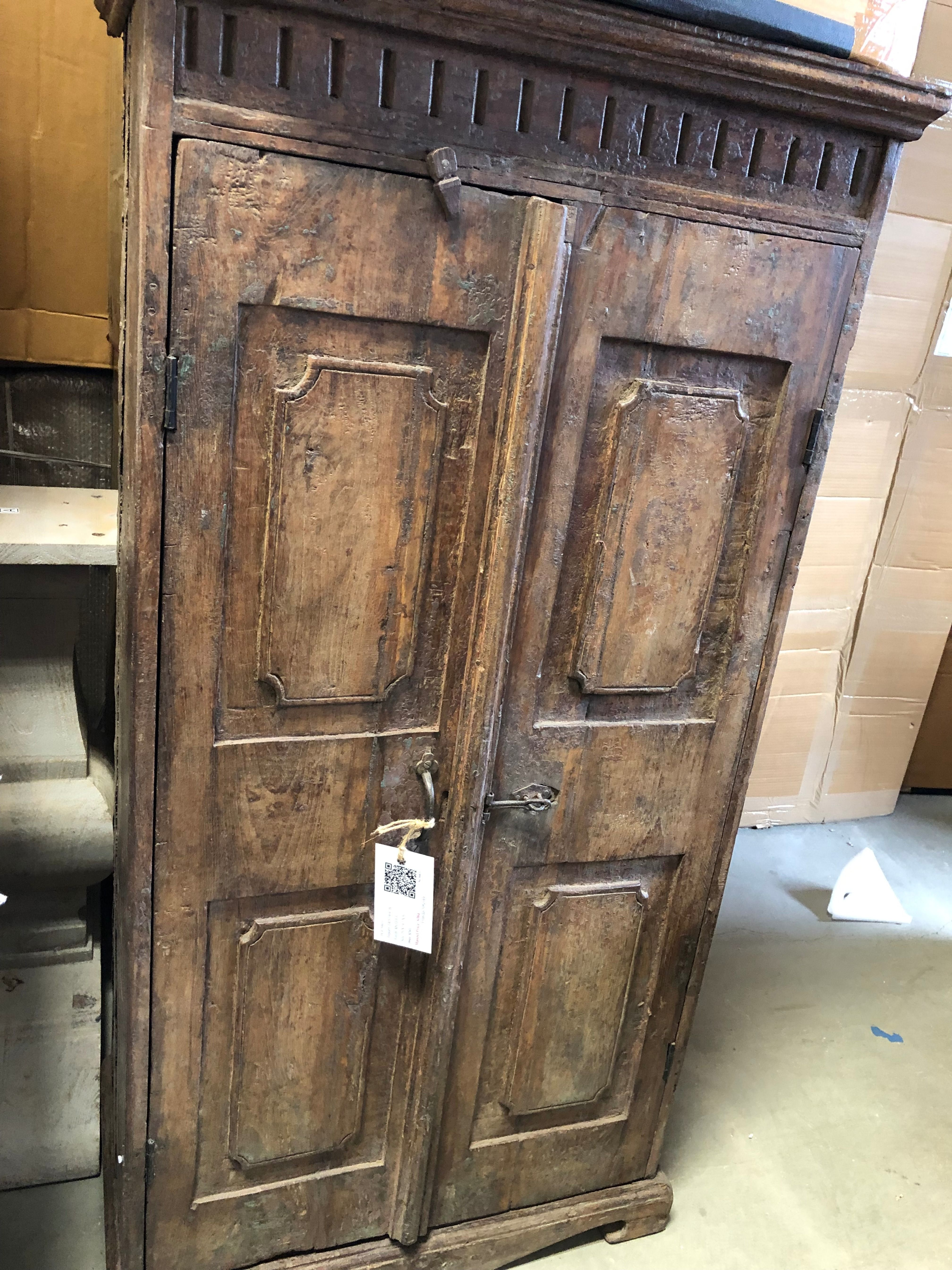 This reclaimed cabinet is fresh from India! Solid Wood doors