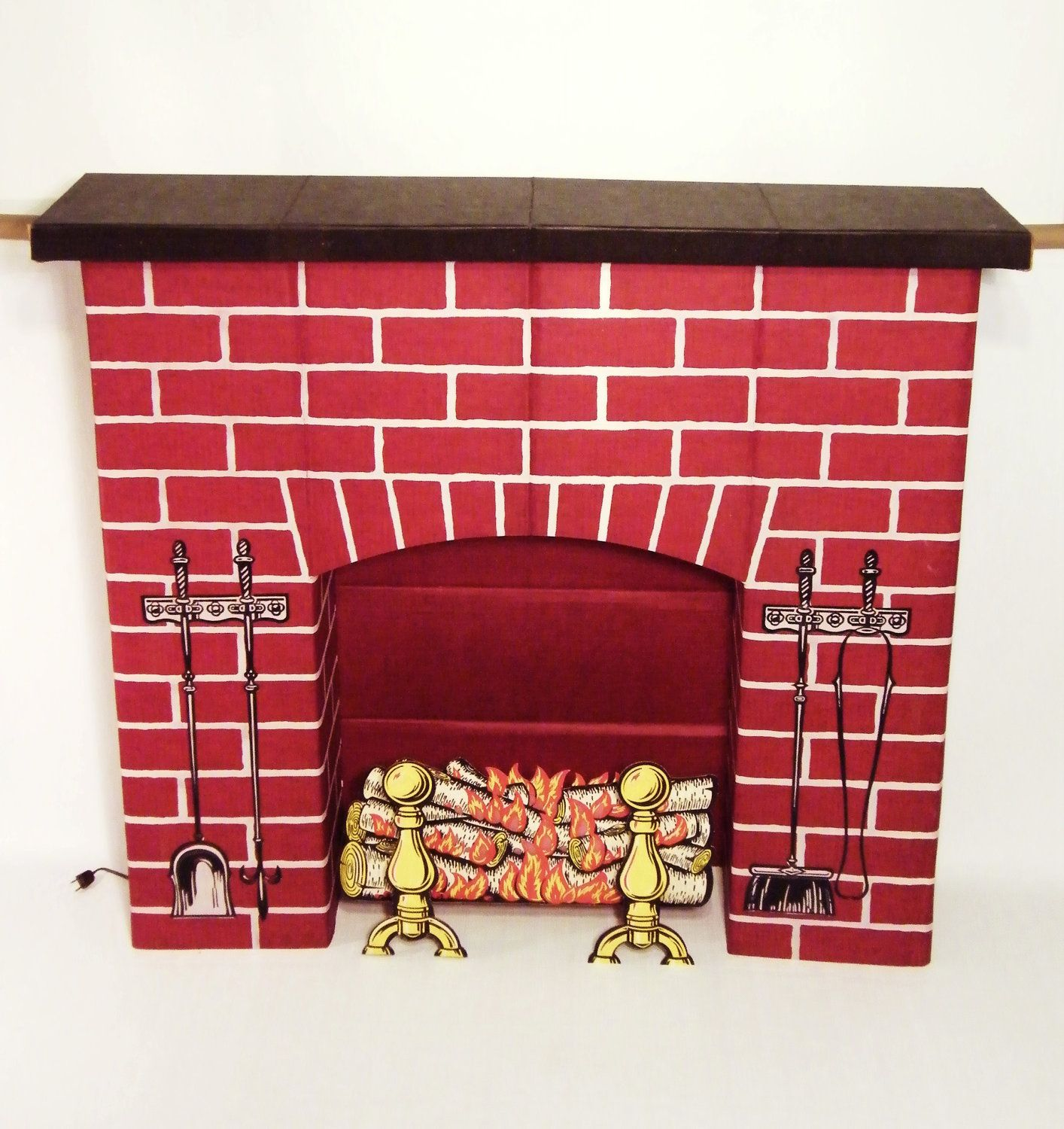 Santa and Cardboard fireplace