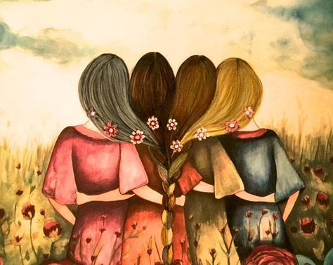 Las Cuatro Hermanas Madre Hijas Canvas Arte Hermanas Produccion