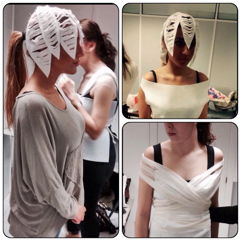 """""""Prácticas de tipos de escotes sobre filtro blanco"""": Estilismo en el vestir. Asesoría de Imagen Personal. El objetivo principal es crear un estilismo de novia teniendo en cuenta que tipo de escote le favorece a nuestra Clienta. #Estilismoenelvestir #Estilismodeboda #Estilismonupcial"""