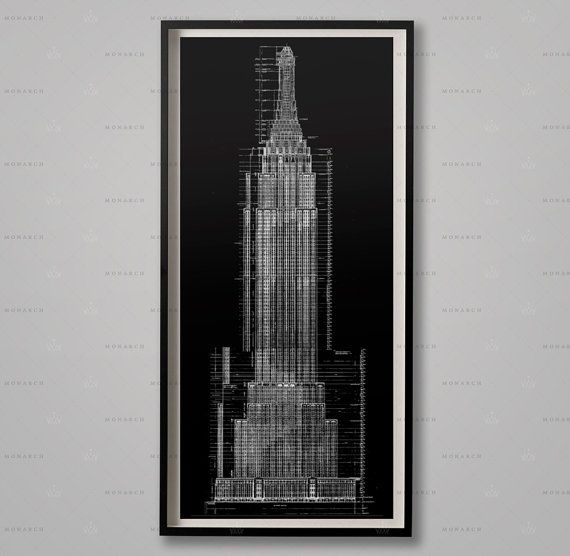 Empire state building blueprints architecture plans elevations empire state building blueprints architecture plans elevations nyc architecture chrysler elevations malvernweather Gallery