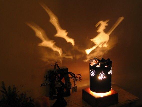 Spinning Lamp Shade Halloween Night Light Lamp Diy Lamp Shade