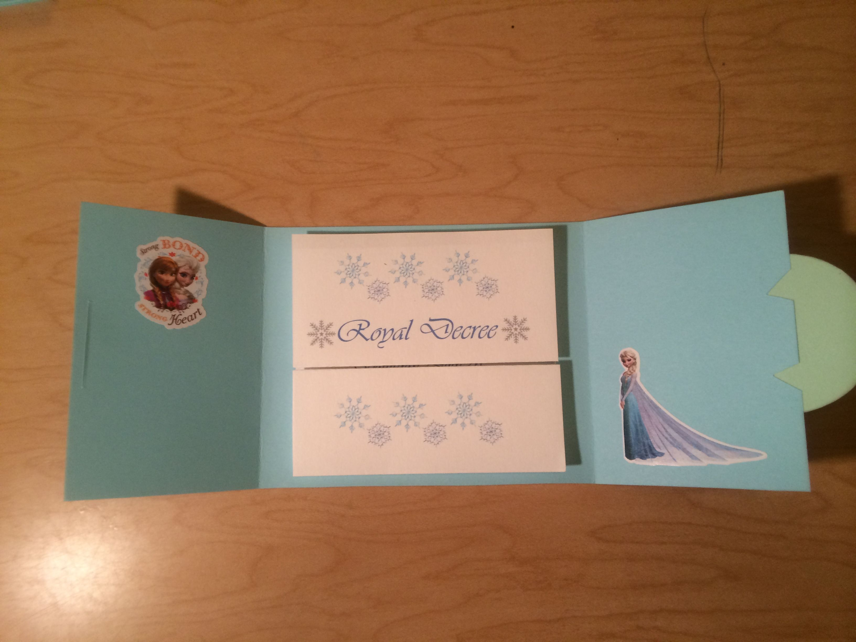 handmadest birthday party invitations%0A Homemade Disney Frozen invitations  inside