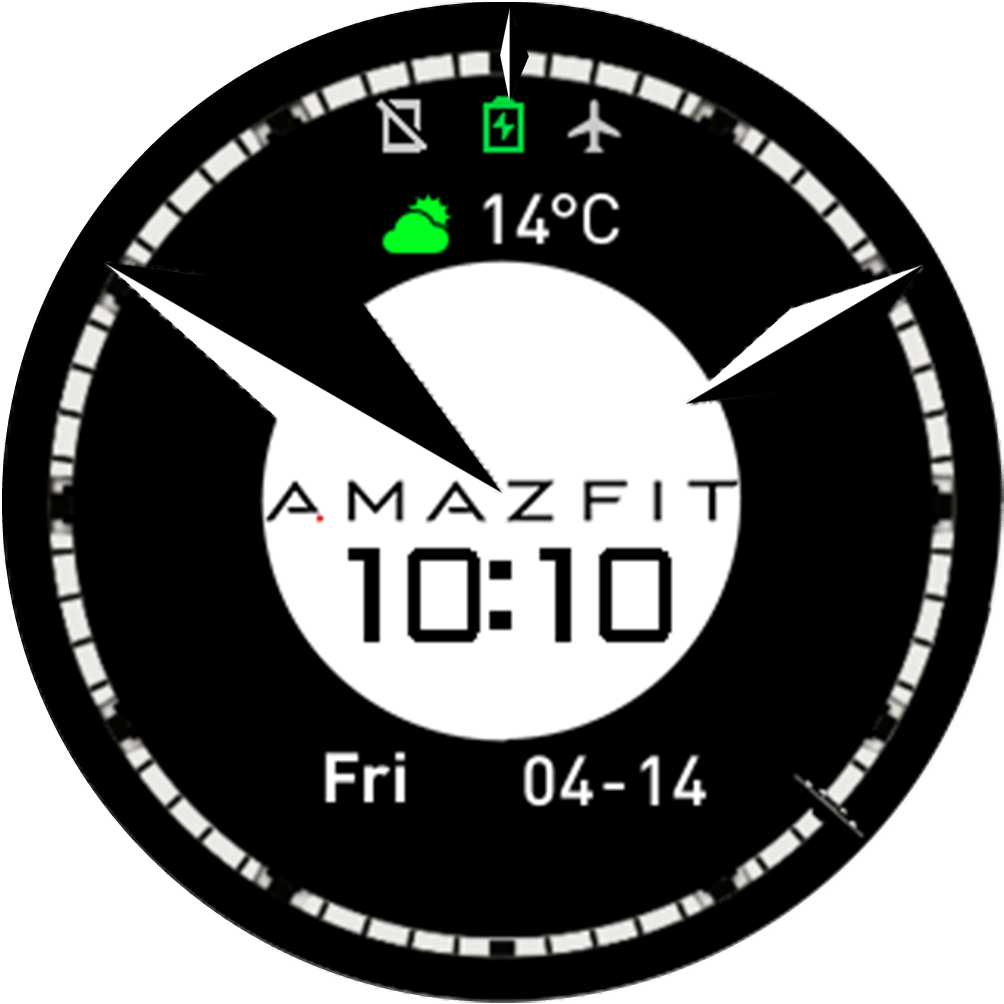 Click to download Amazfit Logo Watch Face