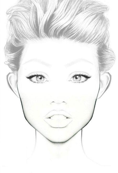 Permanent Sketch Book: Makeup Face Charts, Face
