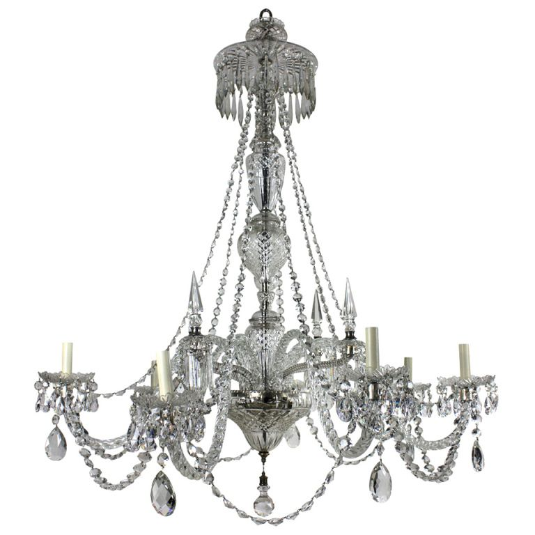 A large edwardian cut glass chandelier cut glass chandeliers and a large edwardian cut glass chandelier mozeypictures Gallery