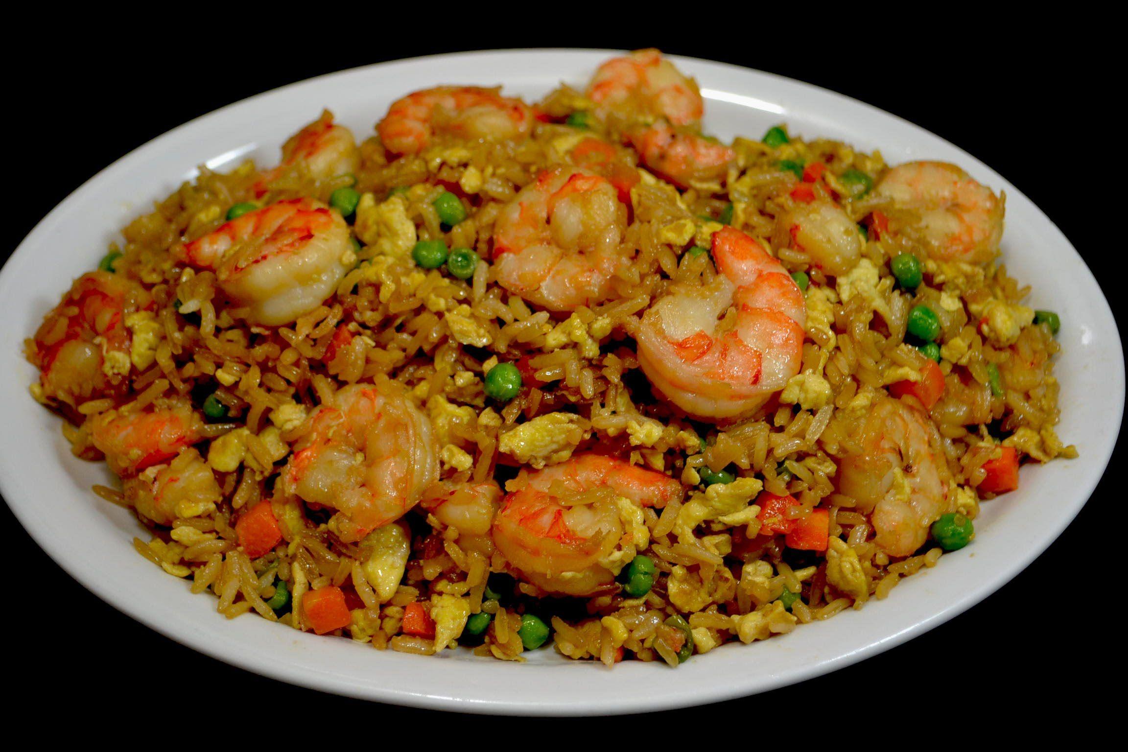 Resultado de imagen para arroz chino con camarones