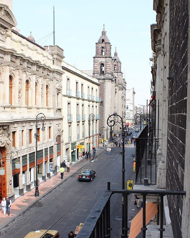 Isabel La Catolica Street View From Downtown Hotel Mexico City