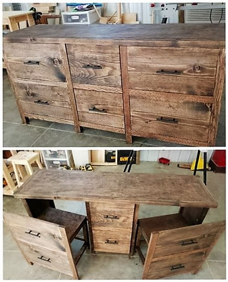 Desk With Two Chairs Ideal For Office,kidsroom,homework Desk. Size L1,5m X  H750mm X B500mm. Two Working Drawers. Buyer Please Collect In Harties  ,optional ...