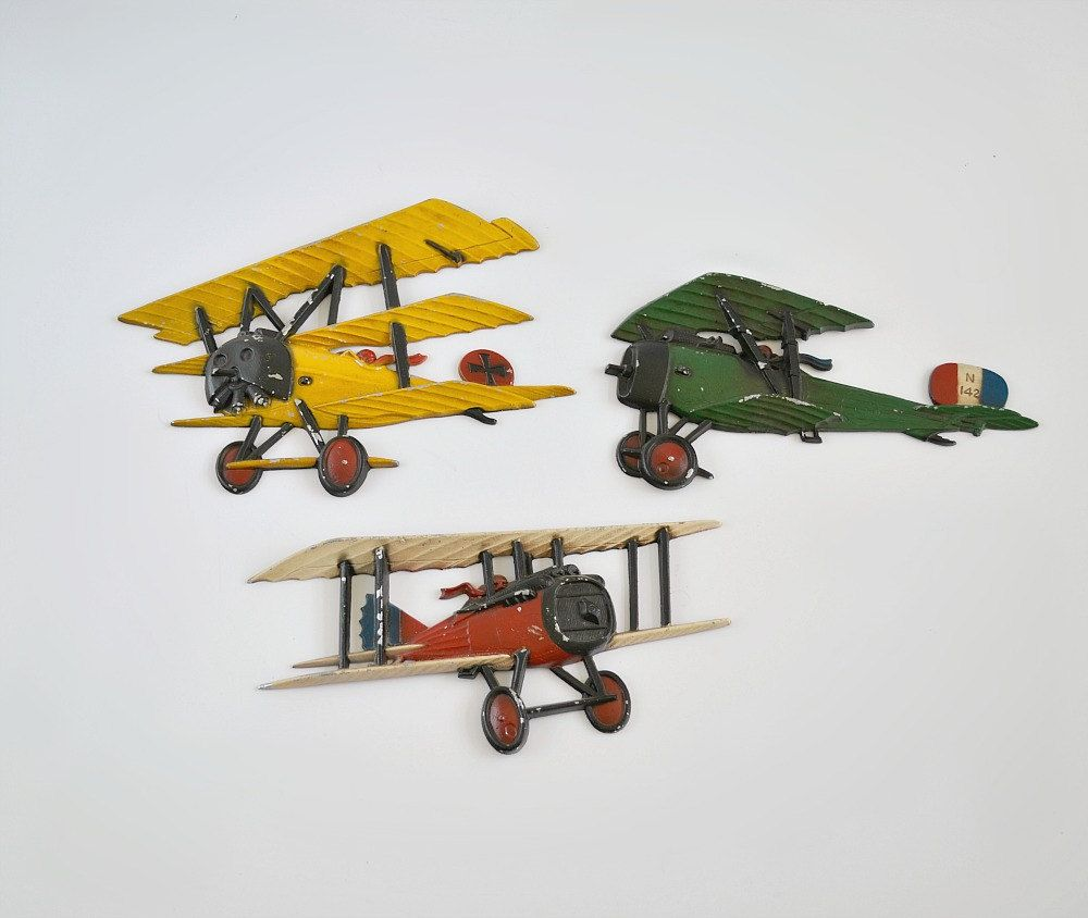 Cast Metal Airplanes By Homco Vintage Airplane Wall Decor Thegoldgator On