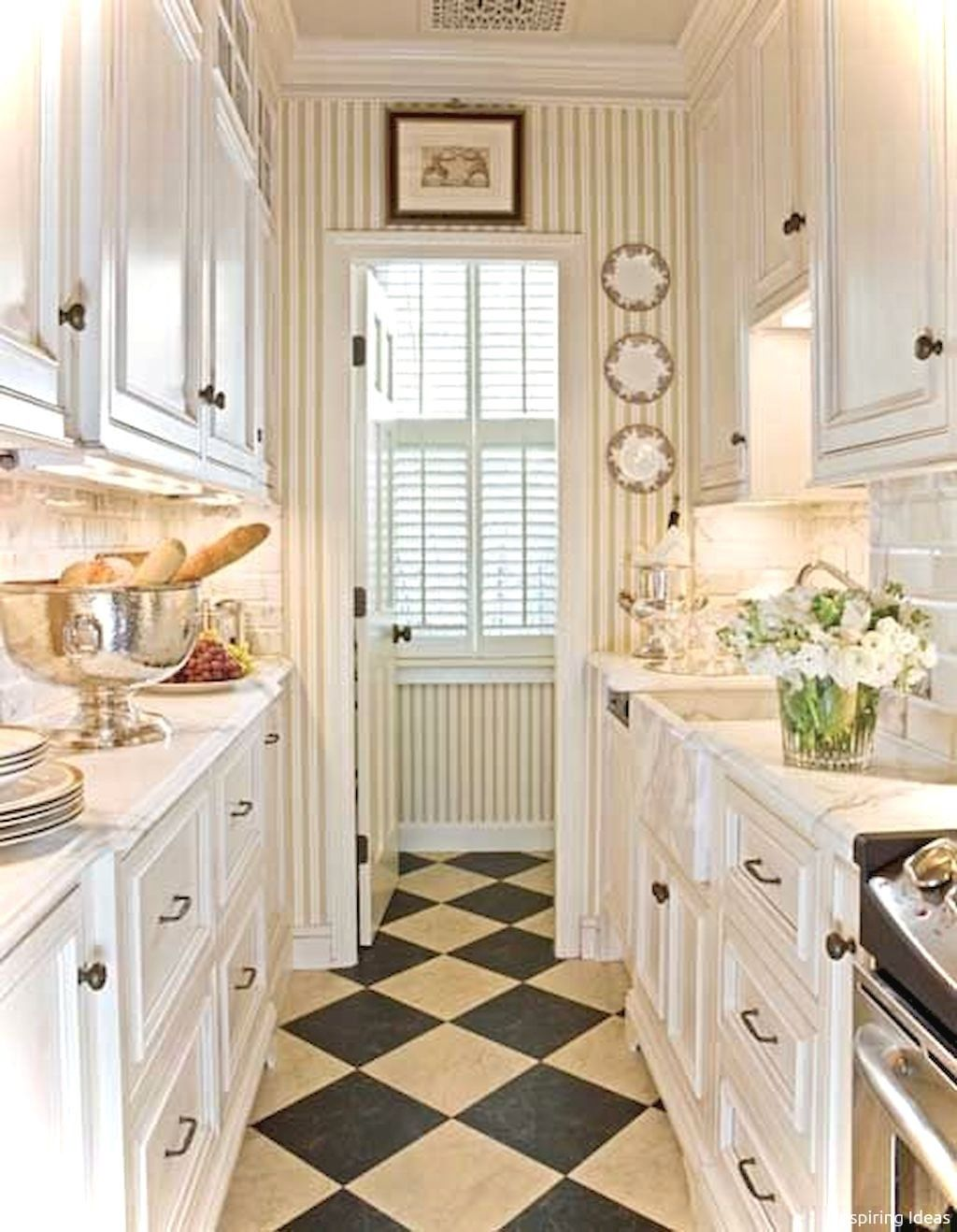 54 Little Kitchen Ideas French Country Style Galley Kitchen