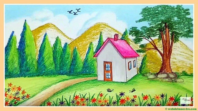 Paisajes Faciles De Dibujar Web Del Maestro Paisajes Dibujos Paisajes Bonitos Para Dibujar Pinturas De Paisajes Faciles