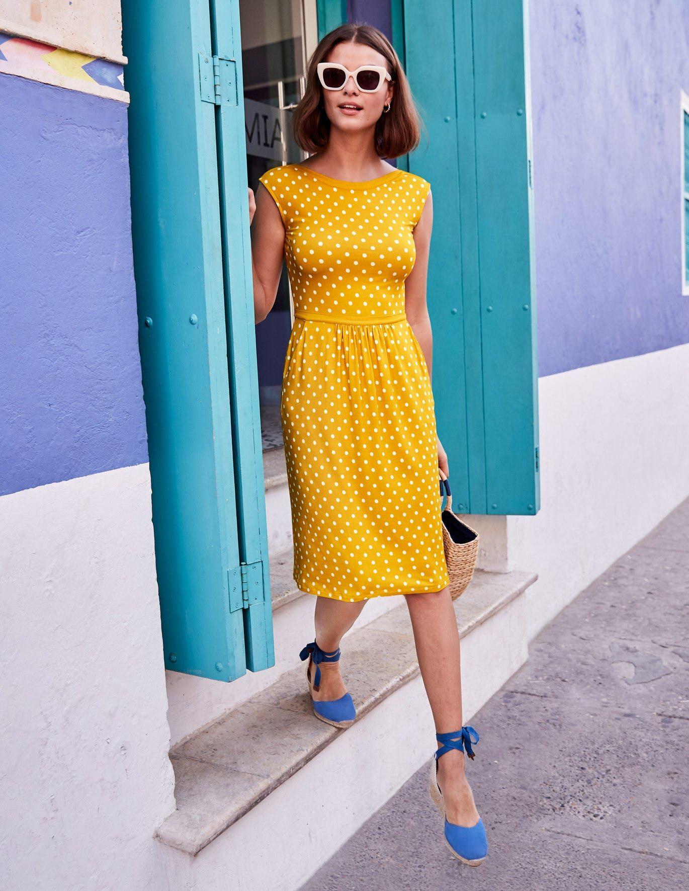 Eleanor Jerseykleid - Sattes Smaragdgrün in 14  Jersey-kleider