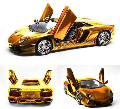 World S Most Expensive Car Dh27m Gold Lamborghini On Sale In