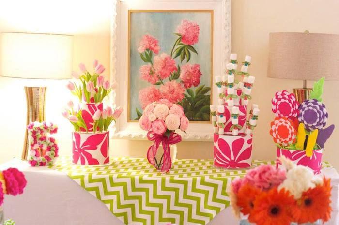 flower birthday theme