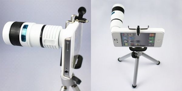 8x Zoom Telephoto Long Focal Camera Lens Tripod for iPhone