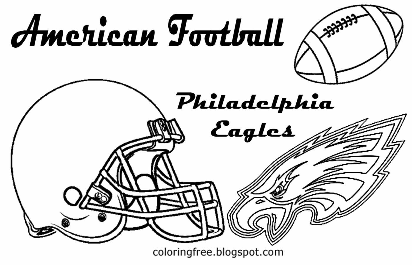 Free Printable Philadelphia Eagles Coloring Pages To Print Football Coloring Pages Coloring Pages Coloring Pages To Print