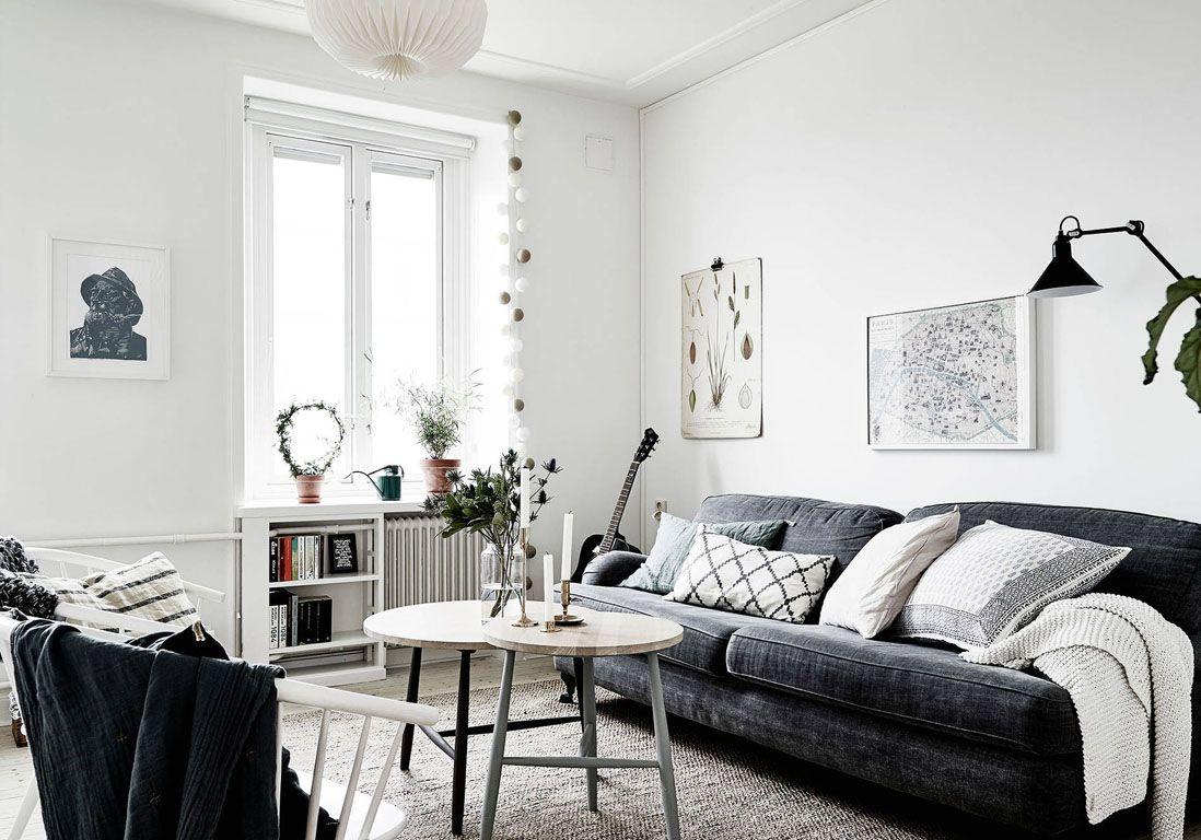 Le Noir Blanc S Invite Au Salon Elle Decoration Avec Images
