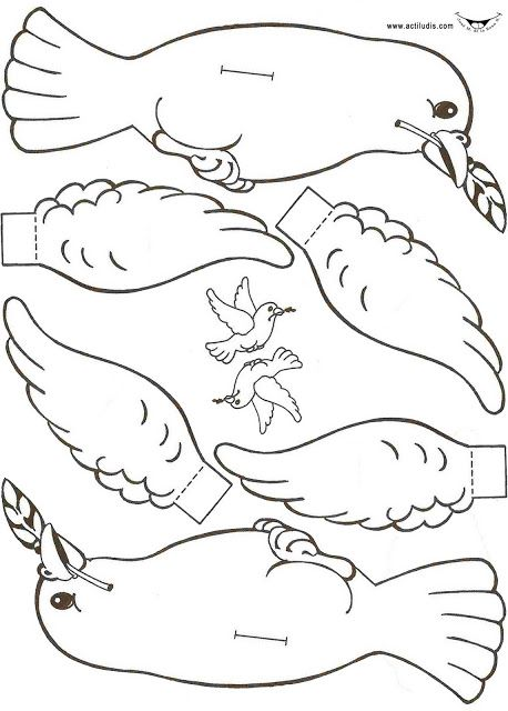 Noah\'s Ark: Dove craft, Armar paloma, Shalom! | Sunday School ...