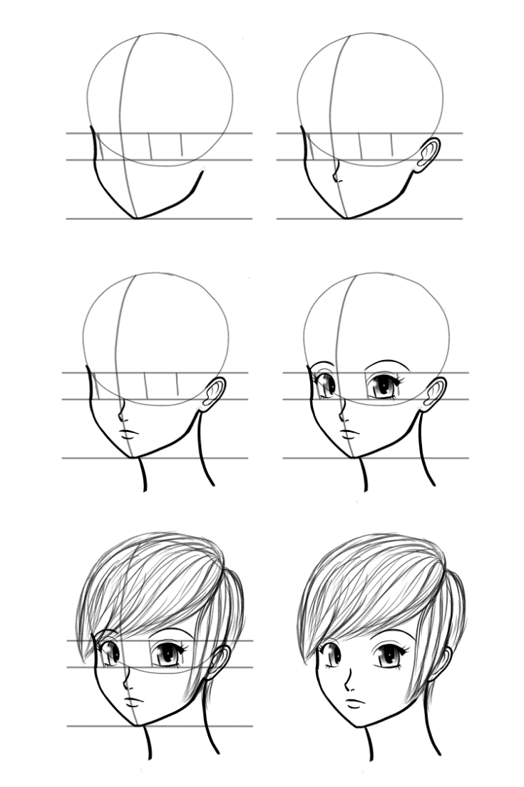 How To Draw Faces Anime face drawing, Human face drawing