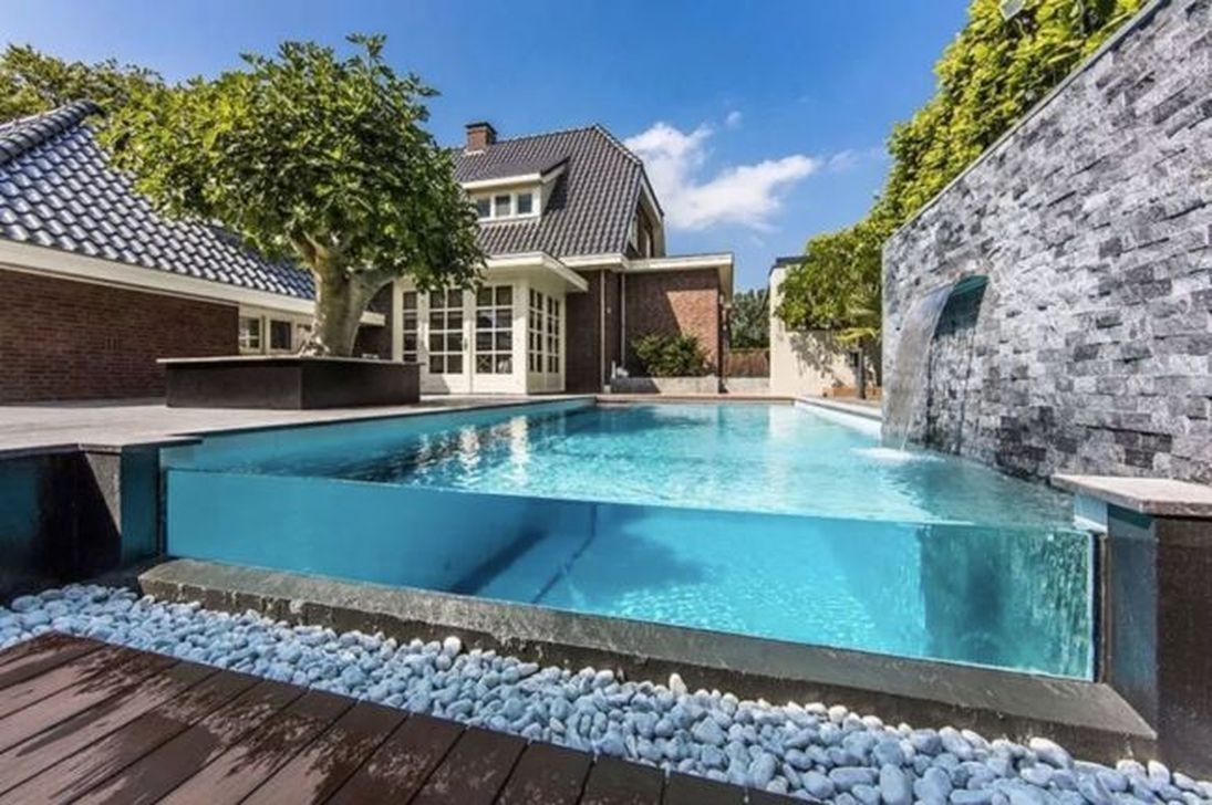30 Casual Shipping Container Swiming Pool Design Ideas 30 Casual Container Design Id Modern Backyard Landscaping Swimming Pools Backyard Backyard Pool Modern backyard pool landscaping