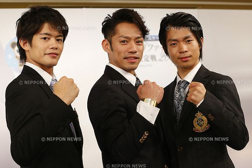 Takahiko Kozuka, Daisuke Takahashi, Tatsuki Machida,  October 06, 2013 :  Grand Prix of Figure Skating 2013/2014 Grand Prix/Gran...
