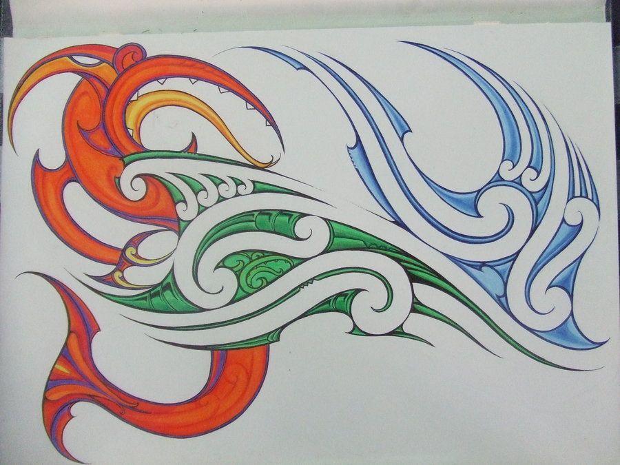 taniwha with colour pencil and pen maori faces pinterest maori maori designs and maori art. Black Bedroom Furniture Sets. Home Design Ideas