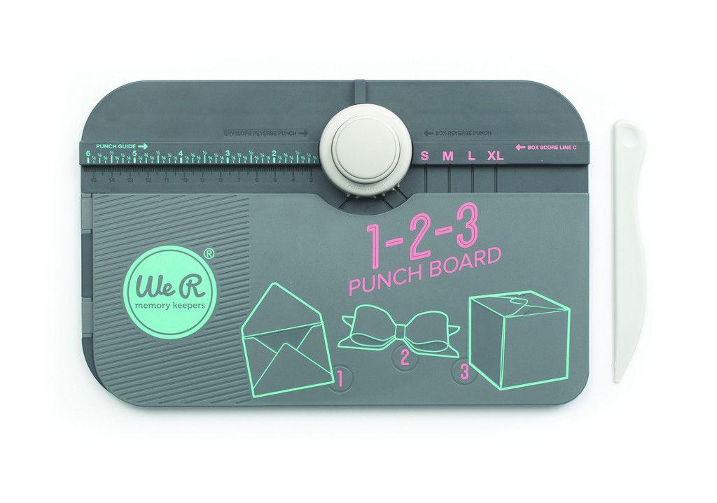 1-2-3 Punch Board for Envelopes, Boxes, and Bows ~ أداة ١-٢-٣ لصنع الأظرف، العلب، و الفيونكات
