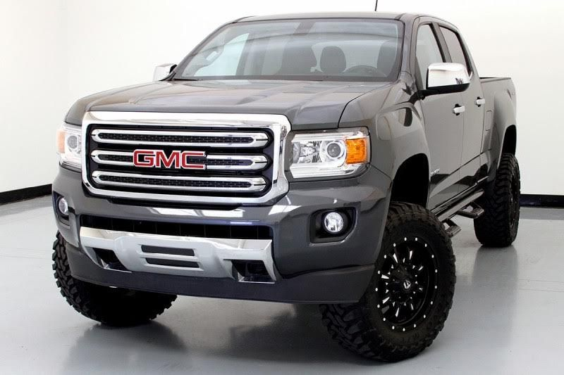 2015 Gmc Canyon Slt Custom 4x4 Cyber Gray Metallic Black Leather