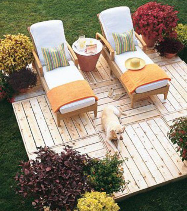 eine ganze terrasse aus europaletten garten garten. Black Bedroom Furniture Sets. Home Design Ideas