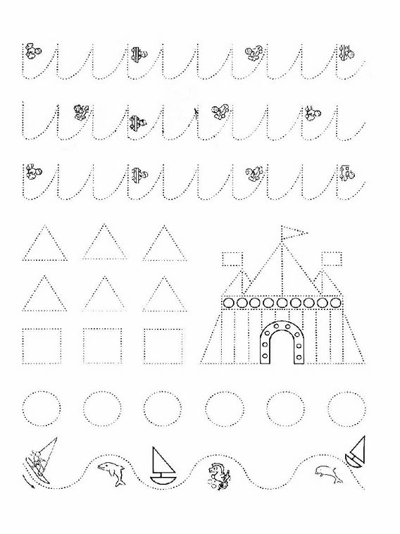 Actividades para niños para imprimir Unir puntos preescolares 60 ...