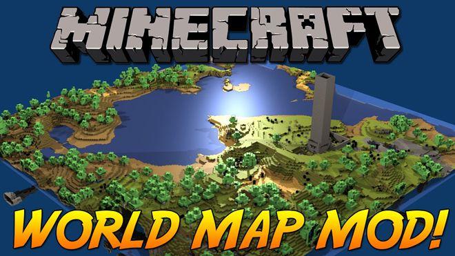 World Map Mod Minecraft Mods Self - Map para minecraft 1 10