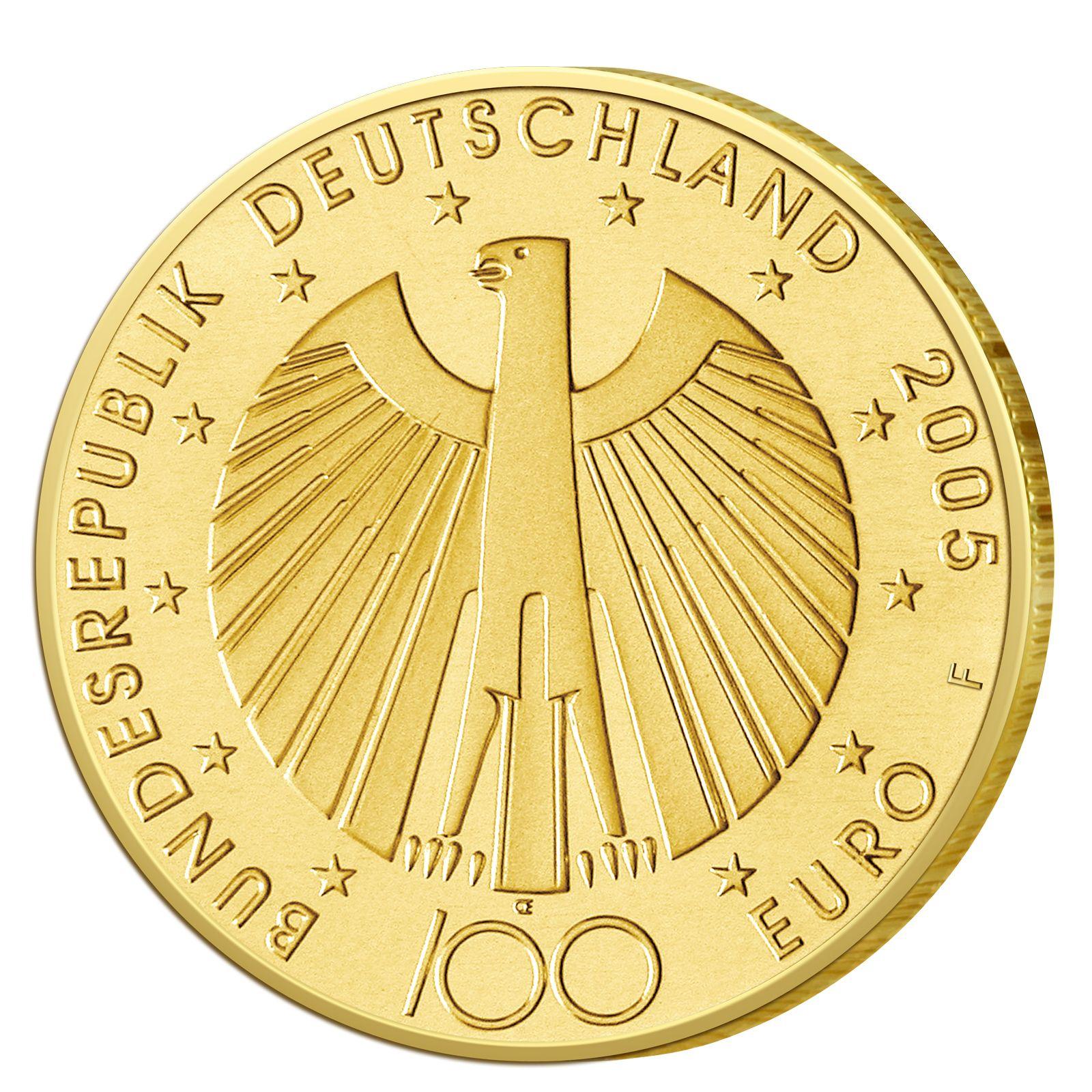 Deutschlands Euro Gold Brd 100 Euro Goldmunzen 2002 Bis