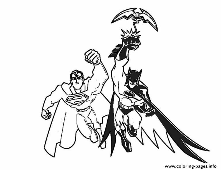 Batman And Superman S For Coloring Pages Printable Book To Print Free Find More Online Kids Adults Of