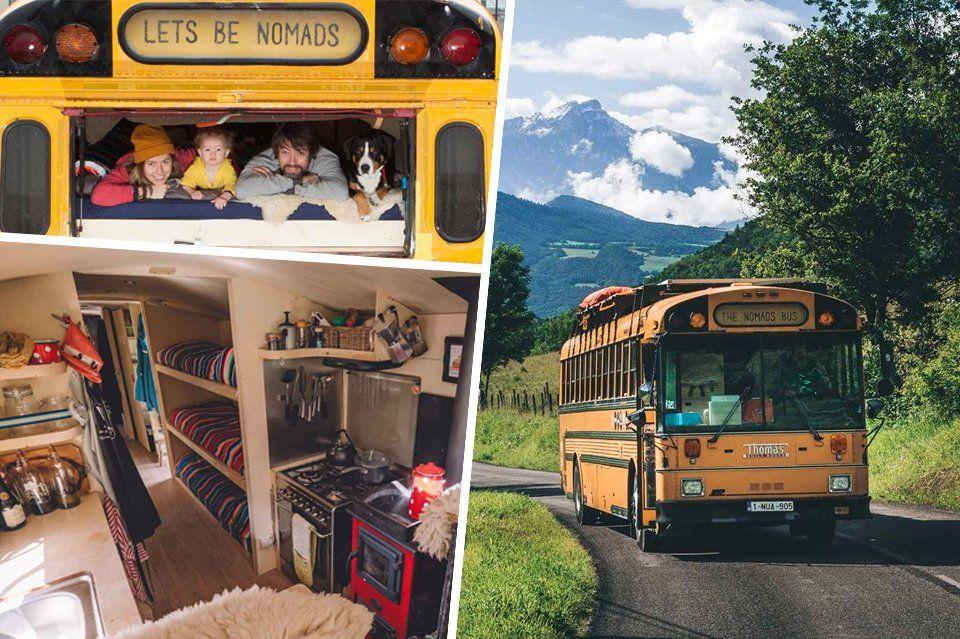 Bien connu Ce couple nomade a converti un bus scolaire en une auberge  SM97