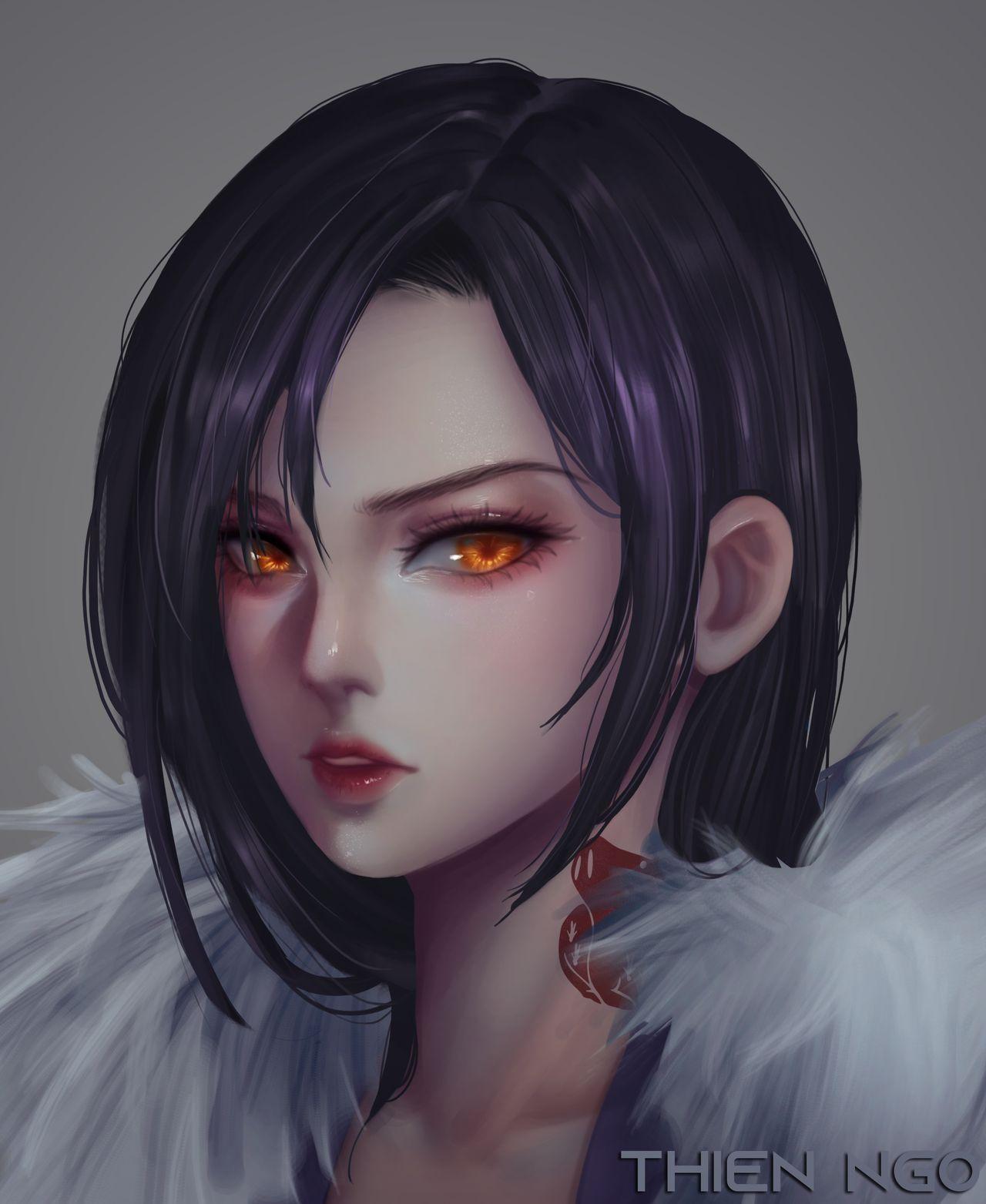 Merlin In 2020 Vampire Girls Angel Manga Blue Purple Hair