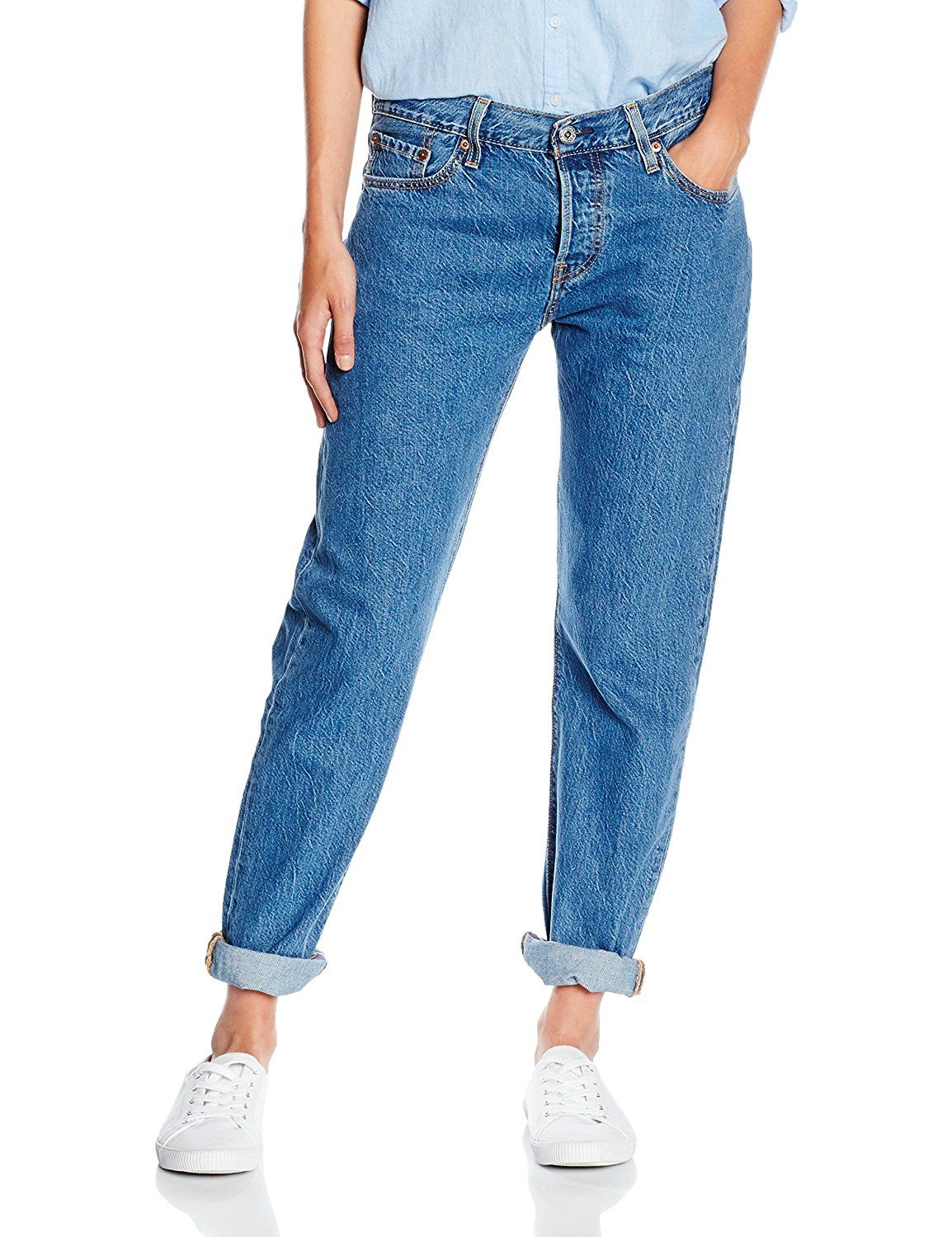 Levis 501 Femme Coupe Droite Levi S Damen Jeanshose 501 Ct Jeans For Women Blau Surf Shade 13
