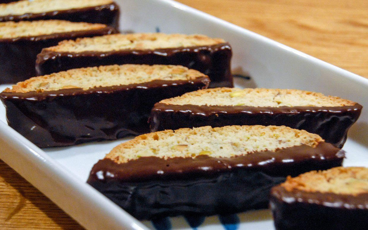 I am the kind of guy who doesn't need a cup of coffee to enjoy biscotti. I love the delightfully crunchy cookies just by themselves. This recipe is super-easy to follow and make, and you can make any variety of biscotti you'd like. They're good with dried fruits, like cherries or cranberries, and you can [...]