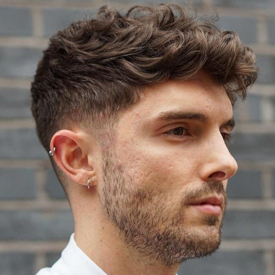 This Is Trendy Mediummenshairstylesstraight Mens Haircuts Fade Wavy Hair Men Taper Fade Haircut