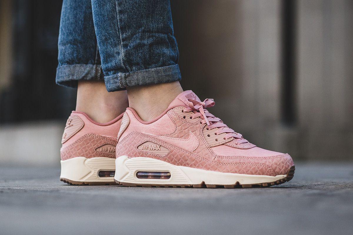 Nike Wmns Air Max 90 Premium Pink Glaze Og Eukicks Sneaker Magazine Nike Air Max Pink Nike Shoes Girls Black Nike Shoes
