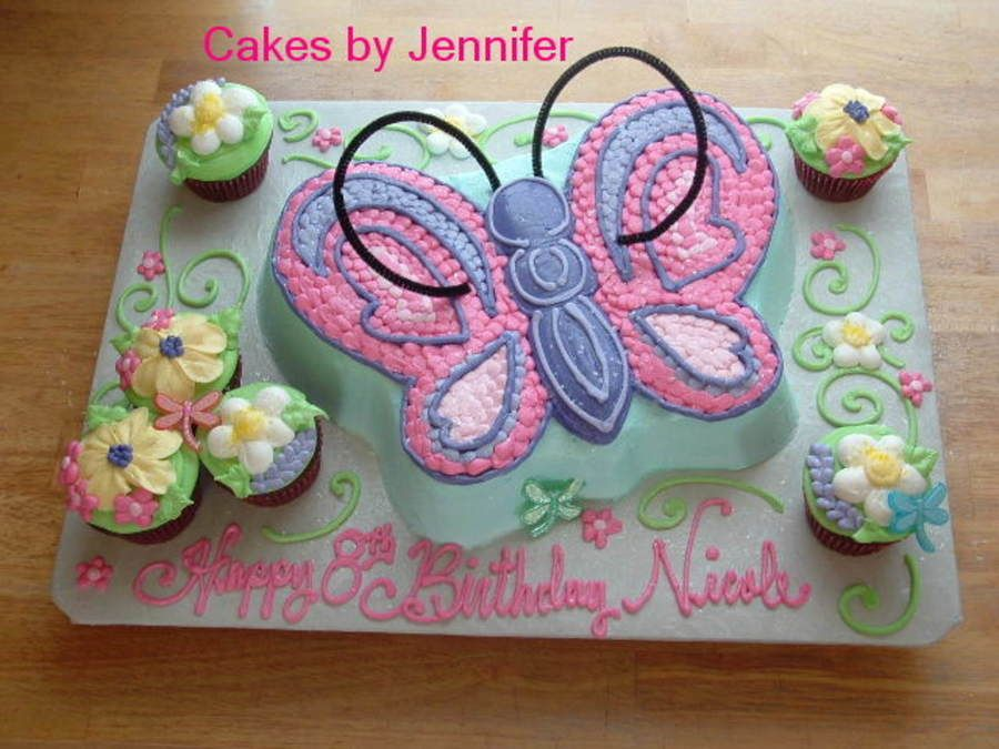 Butterfly Garden Wilton butterfly pan and a few cupcakes